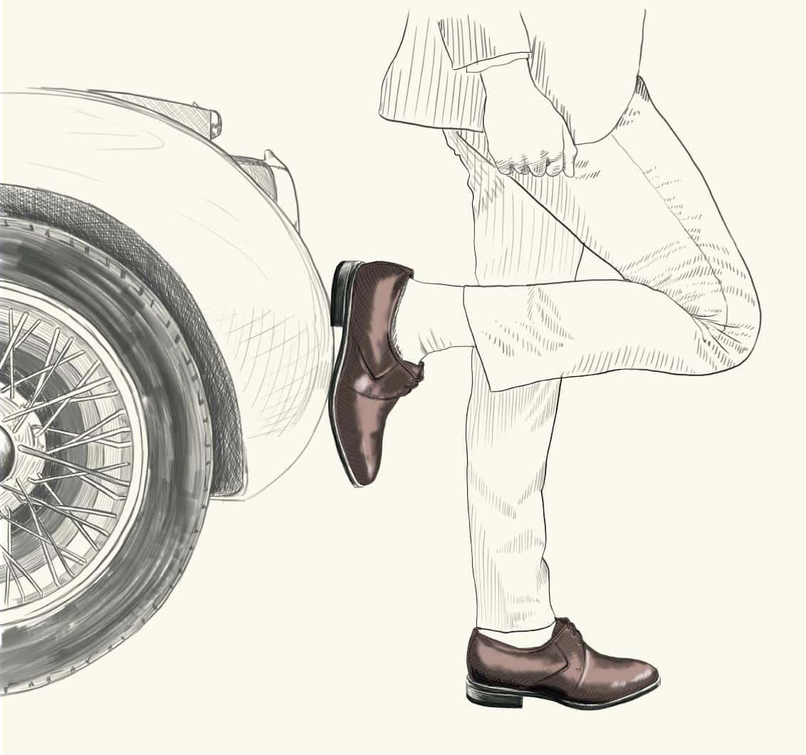 Zapatos inspirados en la moda inglesa